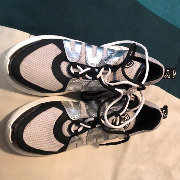 Dkny Shoes | Black And Silver Sneakers